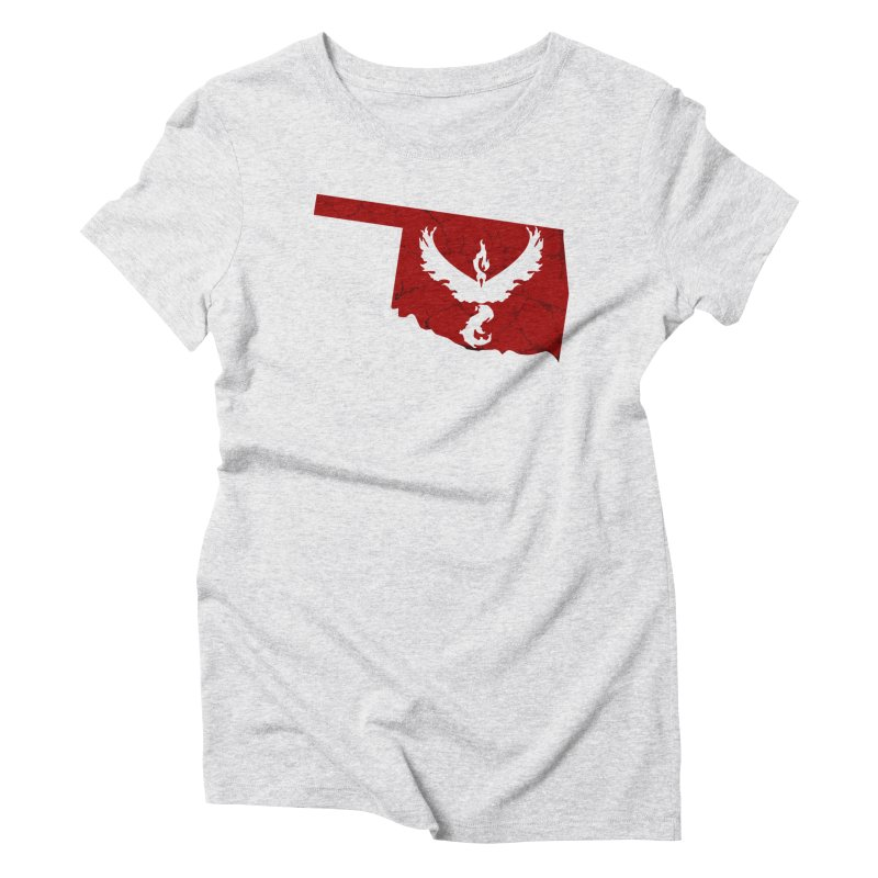 Pokemon Go Oklahoma - Team Valor in Women's Triblend T-Shirt Heather White by OKgamers's Shop