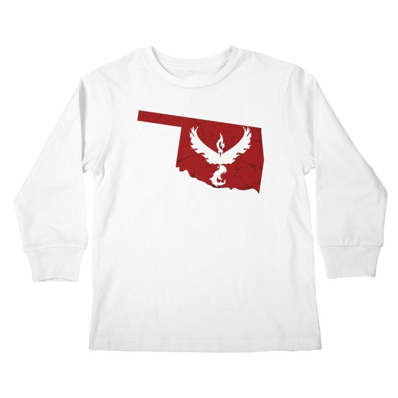 Pokemon Go Oklahoma - Team Valor Kids Longsleeve T-Shirt by Oklahoma Gamers' Shop