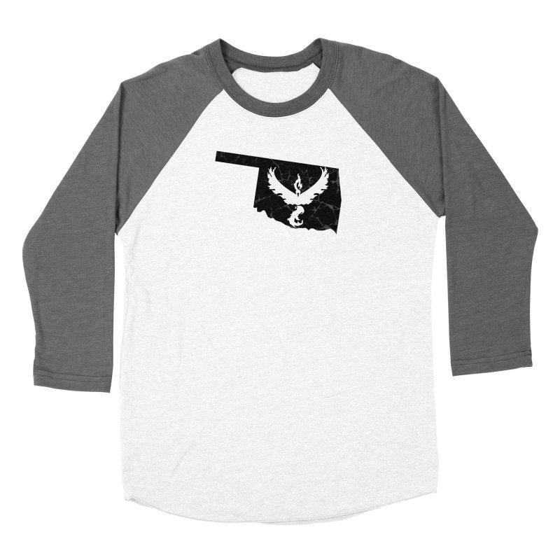 Pokemon Go Oklahoma -Team Valor (Black) Men's Baseball Triblend Longsleeve T-Shirt by Oklahoma Gamers' Shop