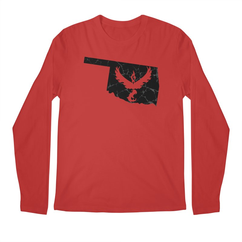 Pokemon Go Oklahoma -Team Valor (Black) Men's Regular Longsleeve T-Shirt by OKgamers's Shop