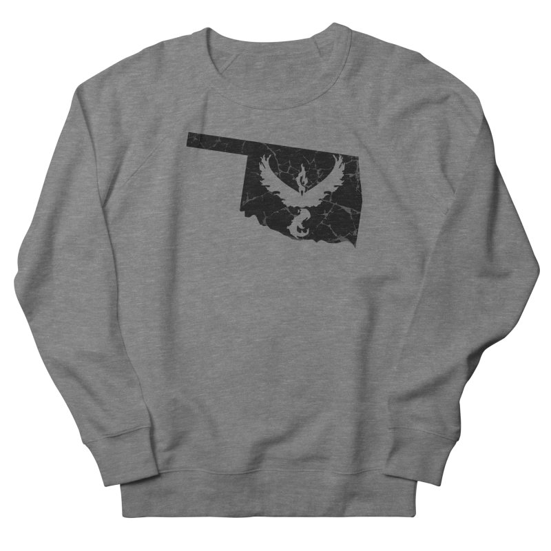 Pokemon Go Oklahoma -Team Valor (Black) Men's French Terry Sweatshirt by Oklahoma Gamers' Shop
