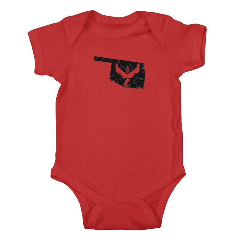 Pokemon Go Oklahoma -Team Valor (Black) Kids Baby Bodysuit by OKgamers's Shop