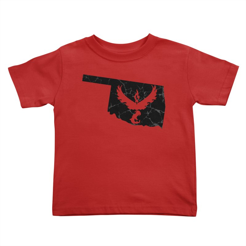 Pokemon Go Oklahoma -Team Valor (Black) Kids Toddler T-Shirt by OKgamers's Shop