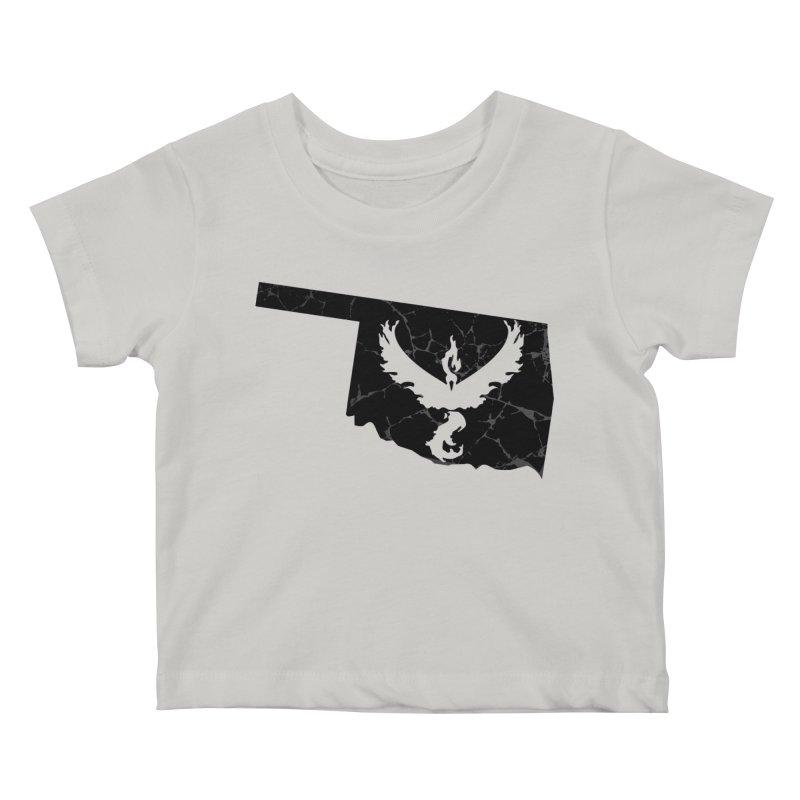 Pokemon Go Oklahoma -Team Valor (Black) Kids Baby T-Shirt by OKgamers's Shop