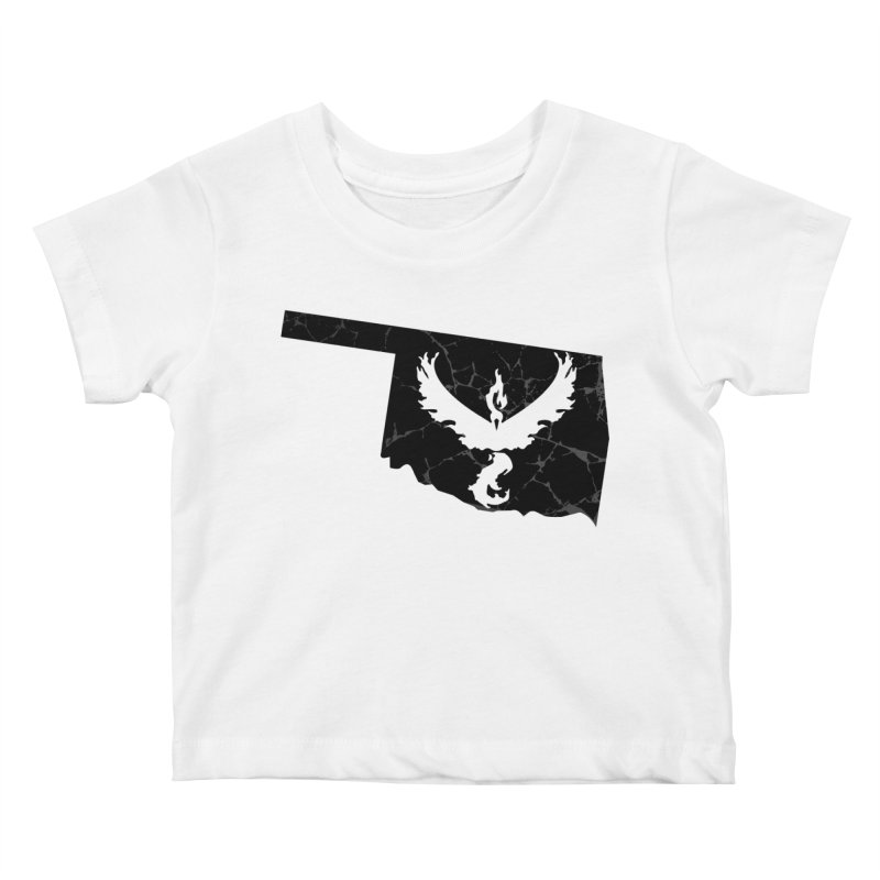 Pokemon Go Oklahoma -Team Valor (Black) Kids Baby T-Shirt by Oklahoma Gamers' Shop