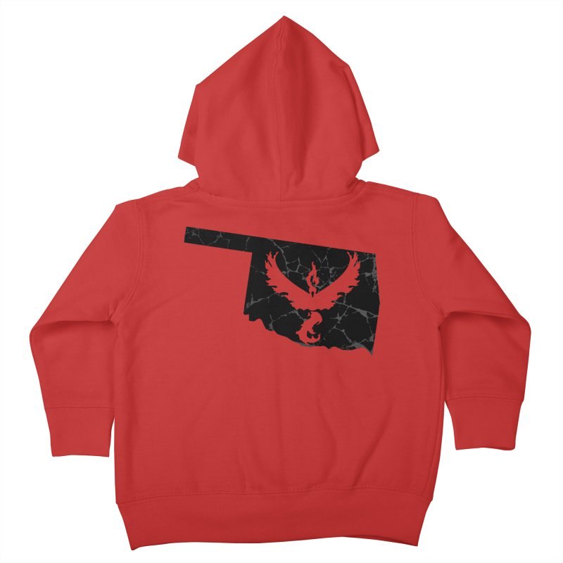 Pokemon Go Oklahoma -Team Valor (Black) Kids Toddler Zip-Up Hoody by OKgamers's Shop