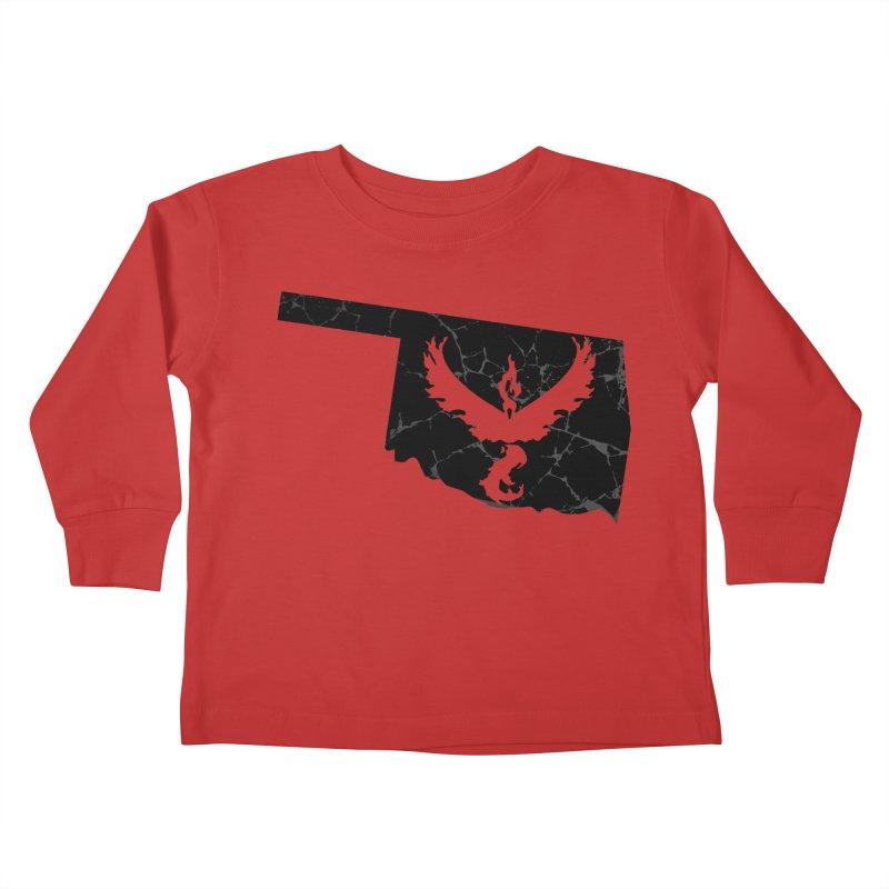 Pokemon Go Oklahoma -Team Valor (Black) Kids Toddler Longsleeve T-Shirt by Oklahoma Gamers' Shop