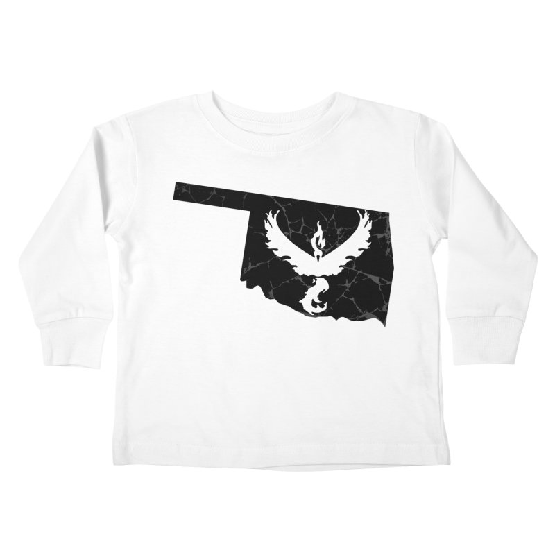 Pokemon Go Oklahoma -Team Valor (Black) Kids Toddler Longsleeve T-Shirt by OKgamers's Shop