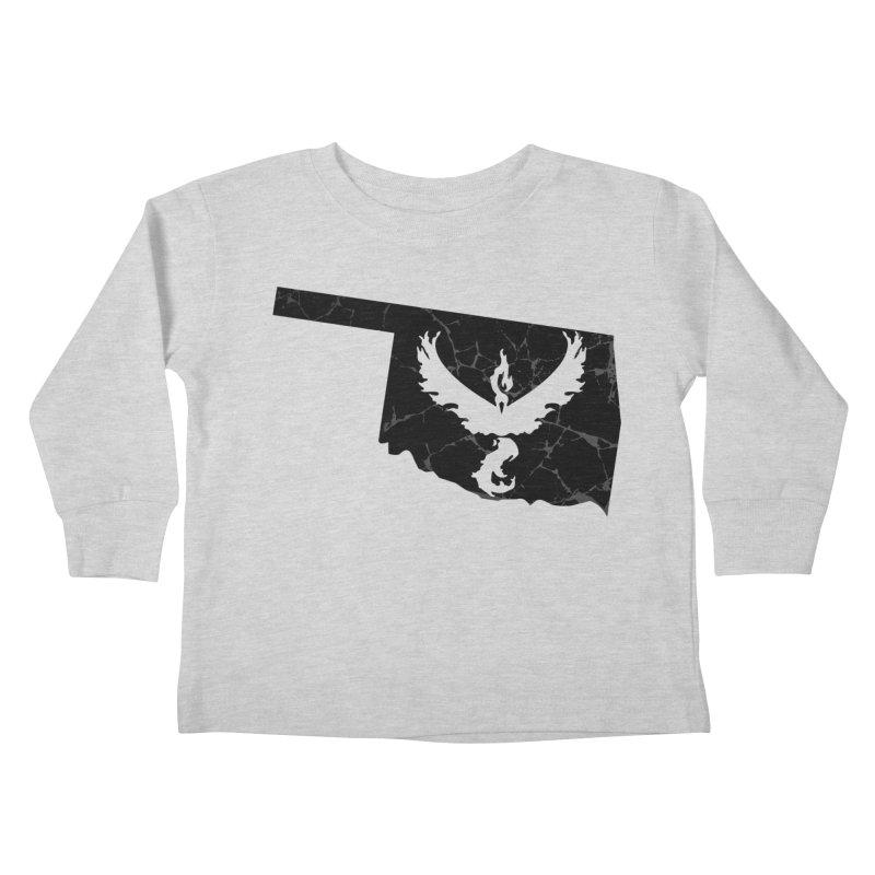 Pokemon Go Oklahoma -Team Valor (Black) Kids Toddler Longsleeve T-Shirt by OKgamers's Shop