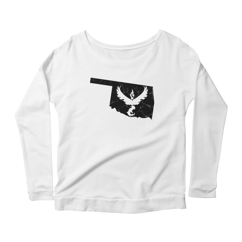 Pokemon Go Oklahoma -Team Valor (Black) Women's Scoop Neck Longsleeve T-Shirt by Oklahoma Gamers' Shop