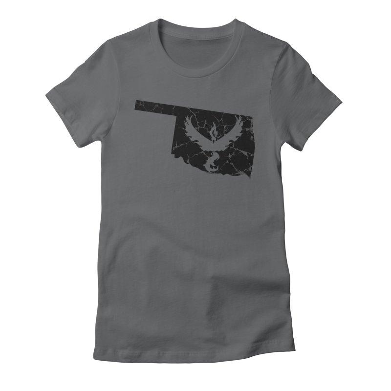 Pokemon Go Oklahoma -Team Valor (Black) Women's Fitted T-Shirt by OKgamers's Shop