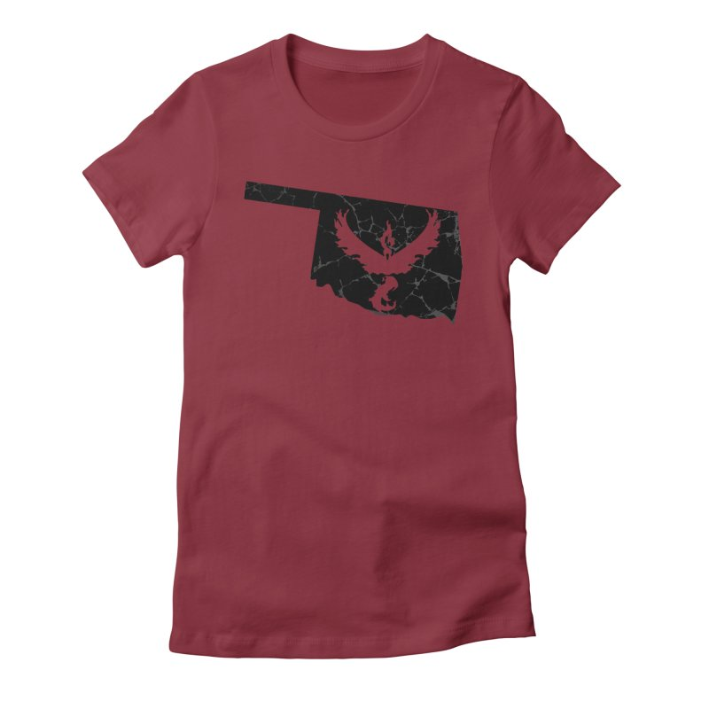 Pokemon Go Oklahoma -Team Valor (Black) Women's T-Shirt by Oklahoma Gamers' Shop