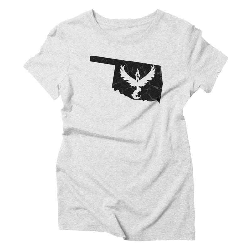 Pokemon Go Oklahoma -Team Valor (Black) Women's Triblend T-Shirt by Oklahoma Gamers' Shop