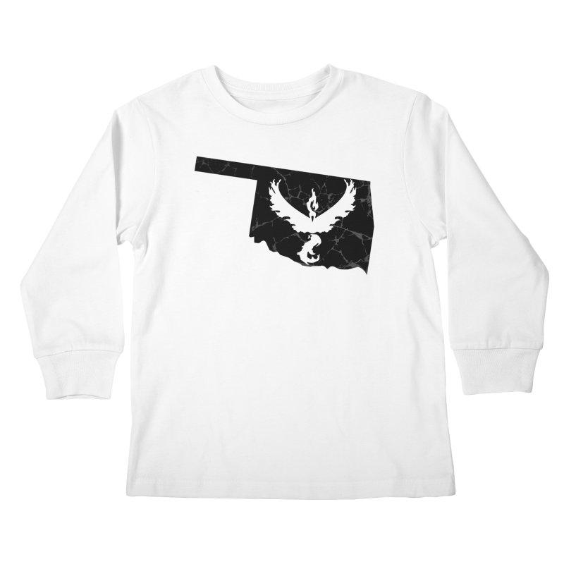 Pokemon Go Oklahoma -Team Valor (Black) Kids Longsleeve T-Shirt by Oklahoma Gamers' Shop