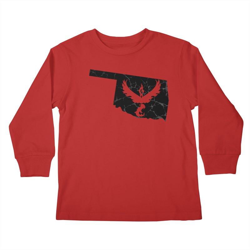 Pokemon Go Oklahoma -Team Valor (Black) Kids Longsleeve T-Shirt by OKgamers's Shop