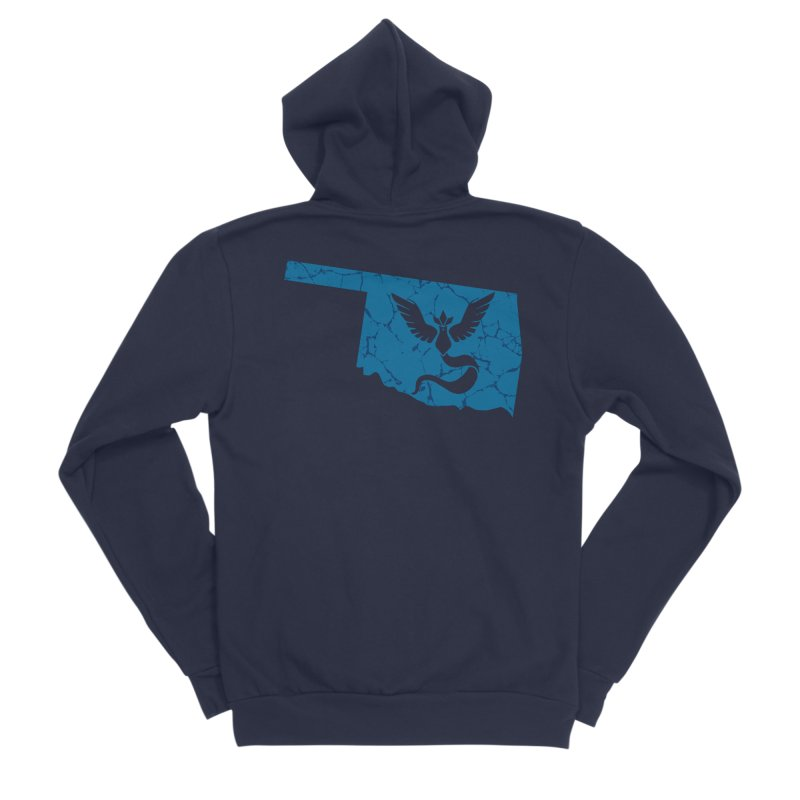 Pokemon Go Oklahoma - Team Mystic Women's Sponge Fleece Zip-Up Hoody by Oklahoma Gamers' Shop