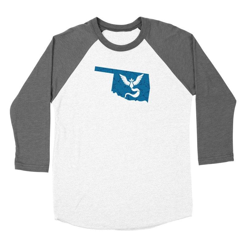Pokemon Go Oklahoma - Team Mystic Men's Baseball Triblend Longsleeve T-Shirt by Oklahoma Gamers' Shop