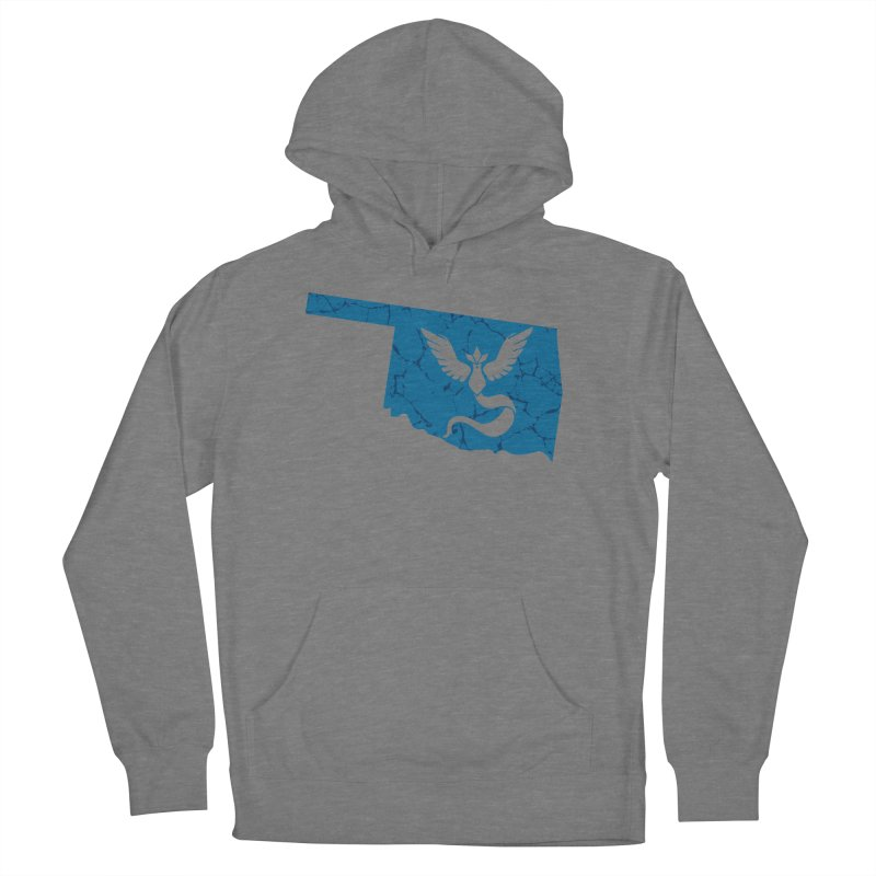 Pokemon Go Oklahoma - Team Mystic Men's French Terry Pullover Hoody by Oklahoma Gamers' Shop