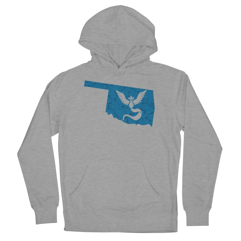 Pokemon Go Oklahoma - Team Mystic in Men's French Terry Pullover Hoody Heather Graphite by Oklahoma Gamers' Shop