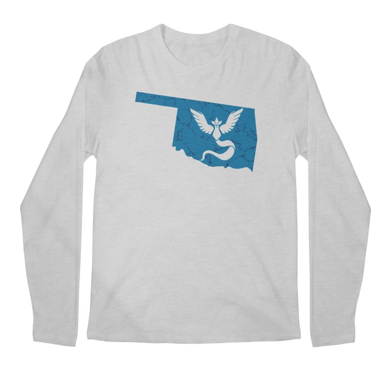 Pokemon Go Oklahoma - Team Mystic Men's Regular Longsleeve T-Shirt by Oklahoma Gamers' Shop