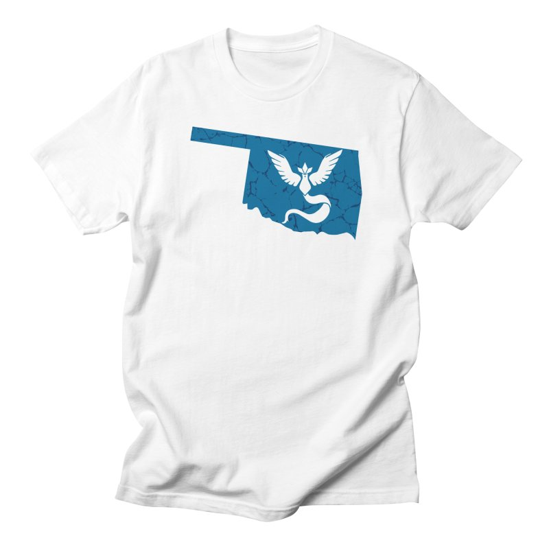 Pokemon Go Oklahoma - Team Mystic Men's Regular T-Shirt by Oklahoma Gamers' Shop