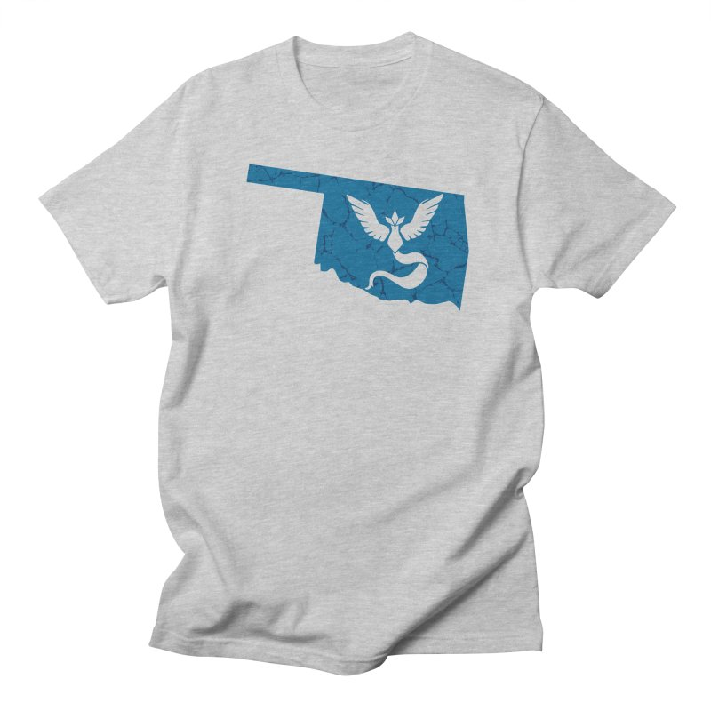 Pokemon Go Oklahoma - Team Mystic in Men's Regular T-Shirt Heather Grey by OKgamers's Shop