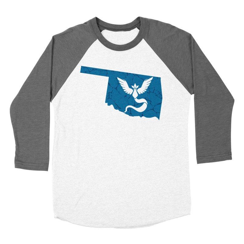 Pokemon Go Oklahoma - Team Mystic Women's Baseball Triblend Longsleeve T-Shirt by Oklahoma Gamers' Shop