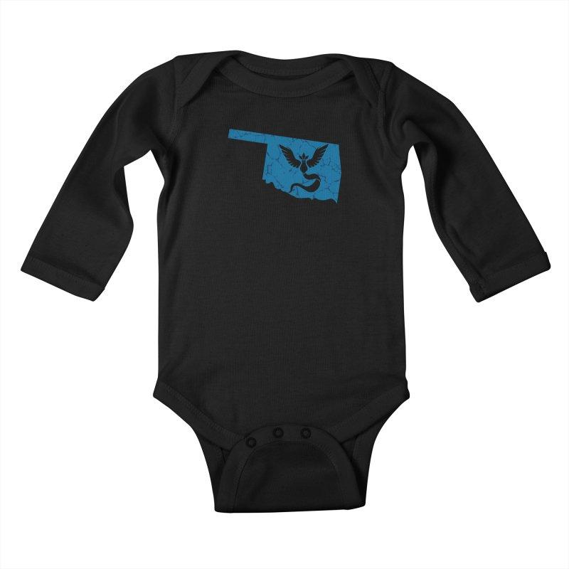 Pokemon Go Oklahoma - Team Mystic Kids Baby Longsleeve Bodysuit by OKgamers's Shop