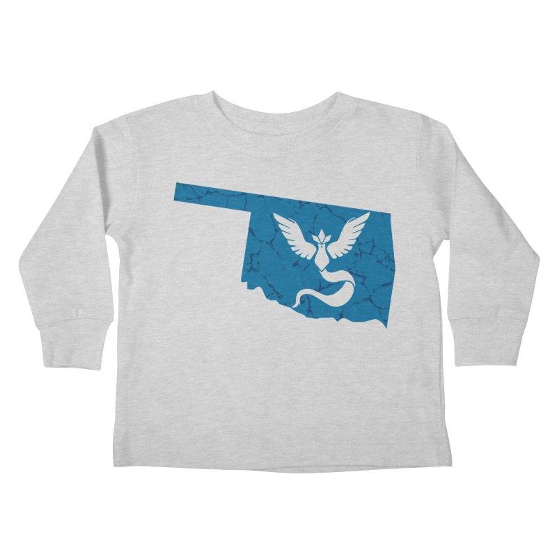 Pokemon Go Oklahoma - Team Mystic Kids Toddler Longsleeve T-Shirt by Oklahoma Gamers' Shop
