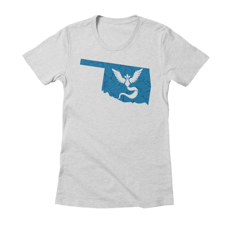 Pokemon Go Oklahoma - Team Mystic Women's Fitted T-Shirt by OKgamers's Shop