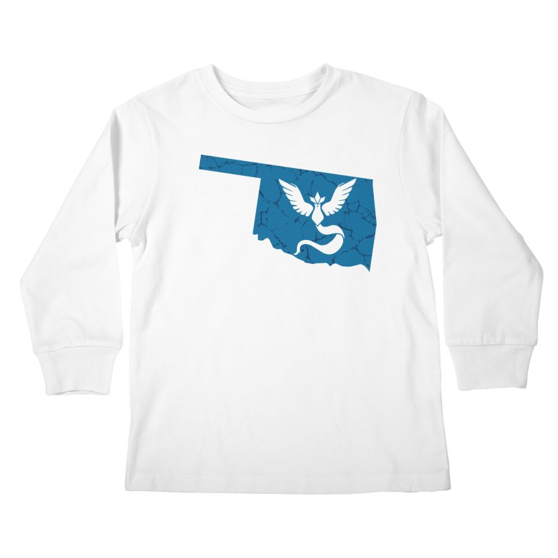 Pokemon Go Oklahoma - Team Mystic Kids Longsleeve T-Shirt by OKgamers's Shop