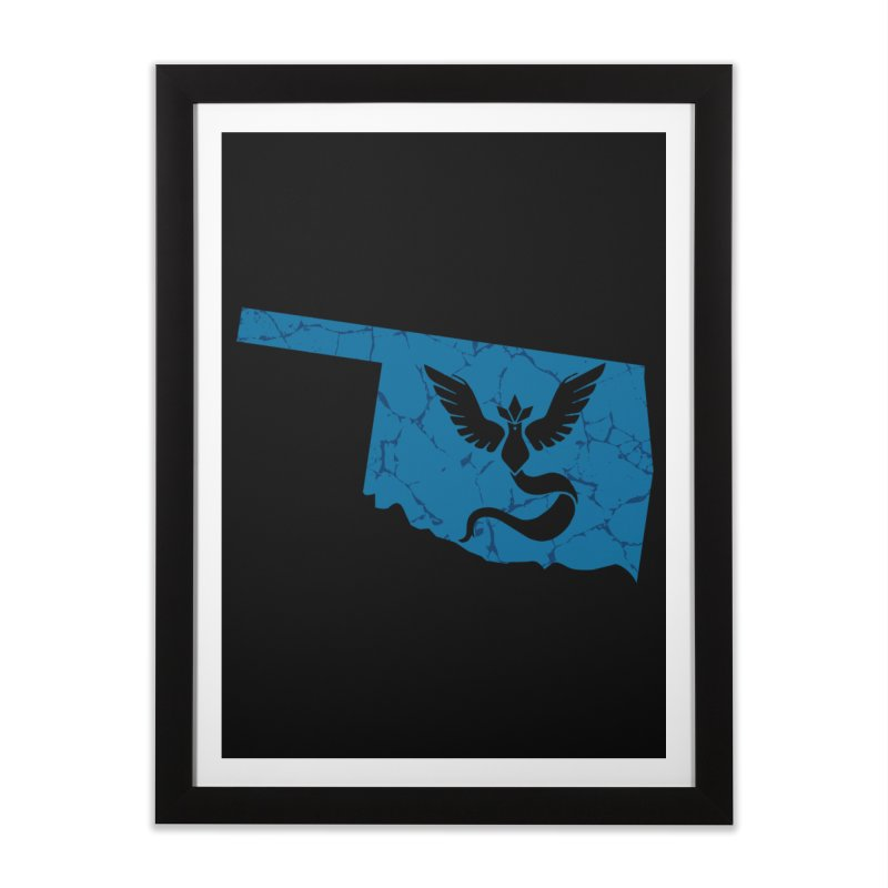 Pokemon Go Oklahoma - Team Mystic Home Framed Fine Art Print by Oklahoma Gamers' Shop