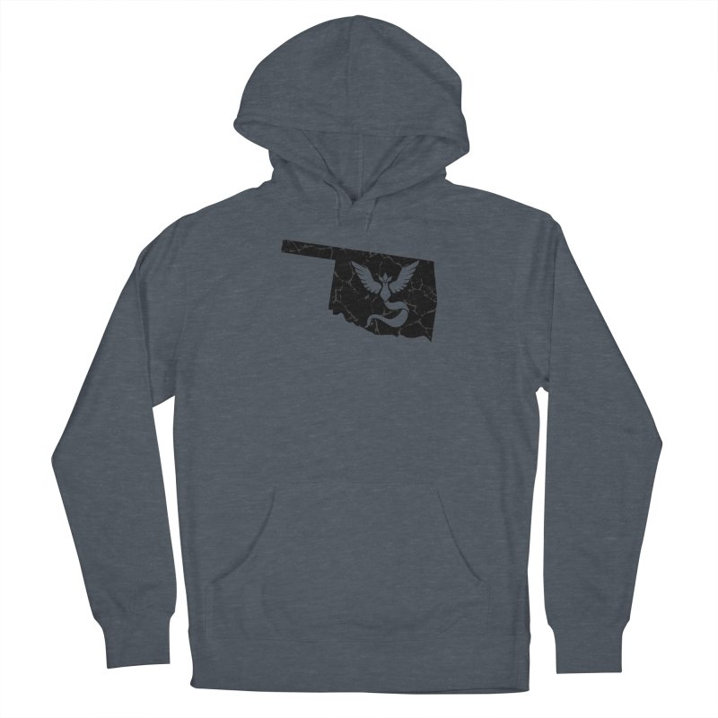 Pokemon Go Oklahoma - Team Mystic (Black) Men's French Terry Pullover Hoody by Oklahoma Gamers' Shop