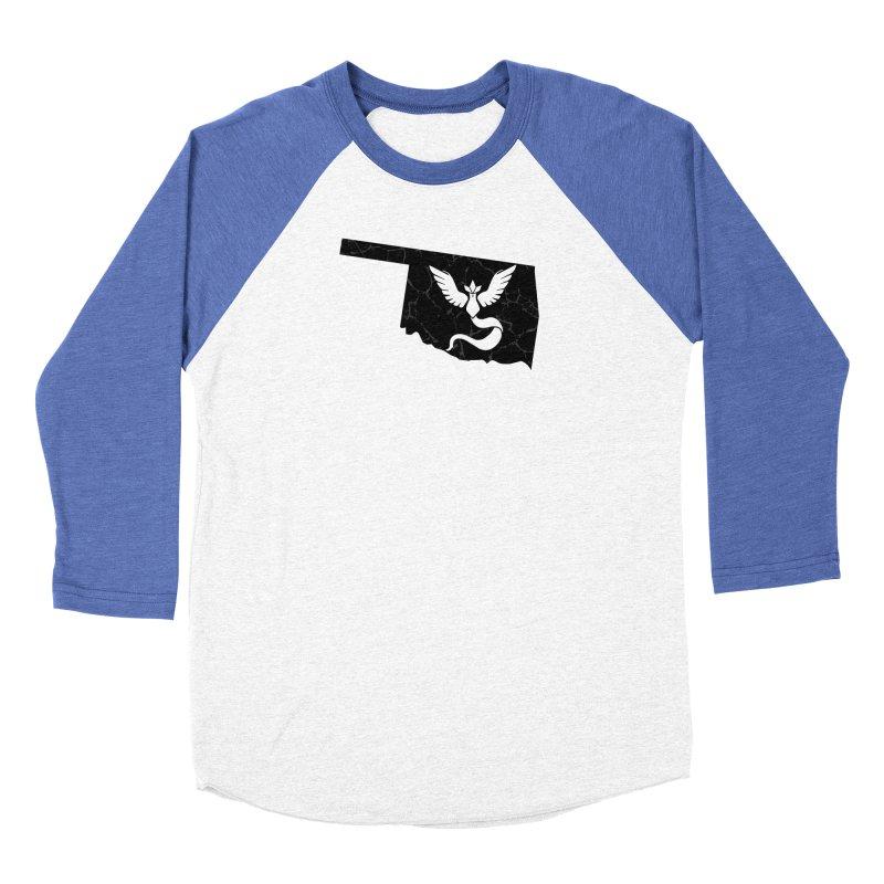 Pokemon Go Oklahoma - Team Mystic (Black) Women's Baseball Triblend Longsleeve T-Shirt by Oklahoma Gamers' Shop