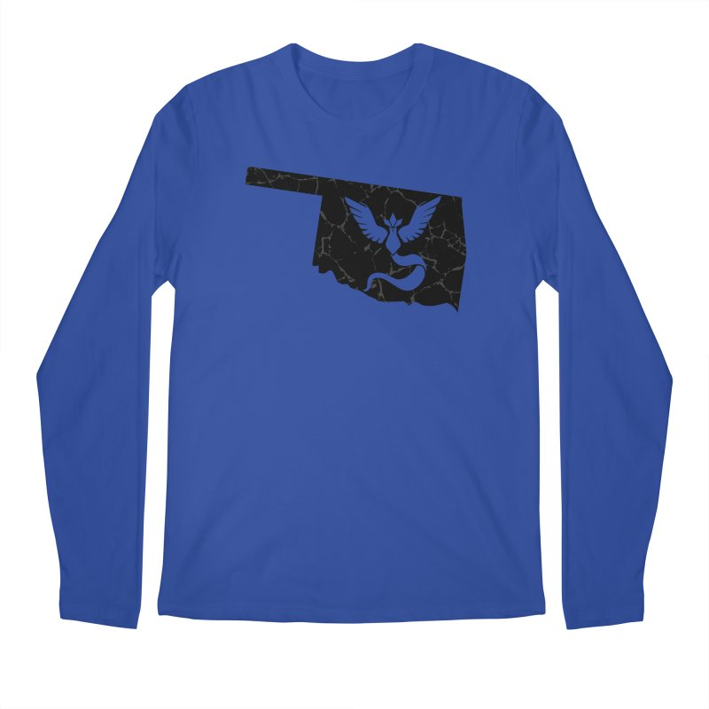 Pokemon Go Oklahoma - Team Mystic (Black) Men's Longsleeve T-Shirt by Oklahoma Gamers' Shop