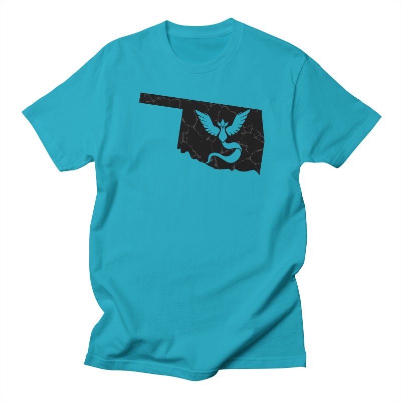 Pokemon Go Oklahoma - Team Mystic (Black) Men's T-Shirt by Oklahoma Gamers' Shop