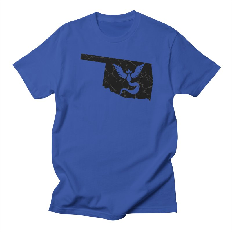 Pokemon Go Oklahoma - Team Mystic (Black) Men's T-Shirt by Oklahoma Gamers' Shop
