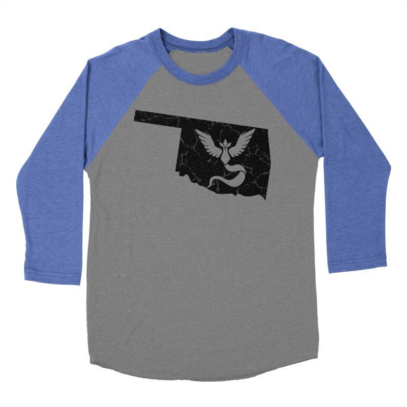 Pokemon Go Oklahoma - Team Mystic (Black) Men's Baseball Triblend T-Shirt by OKgamers's Shop