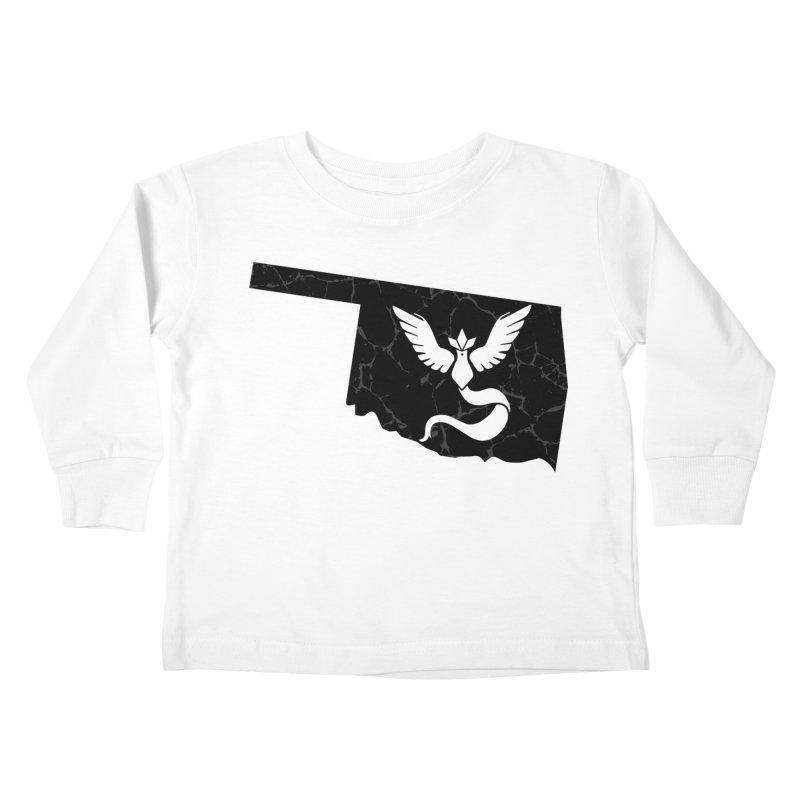 Pokemon Go Oklahoma - Team Mystic (Black) Kids Toddler Longsleeve T-Shirt by Oklahoma Gamers' Shop