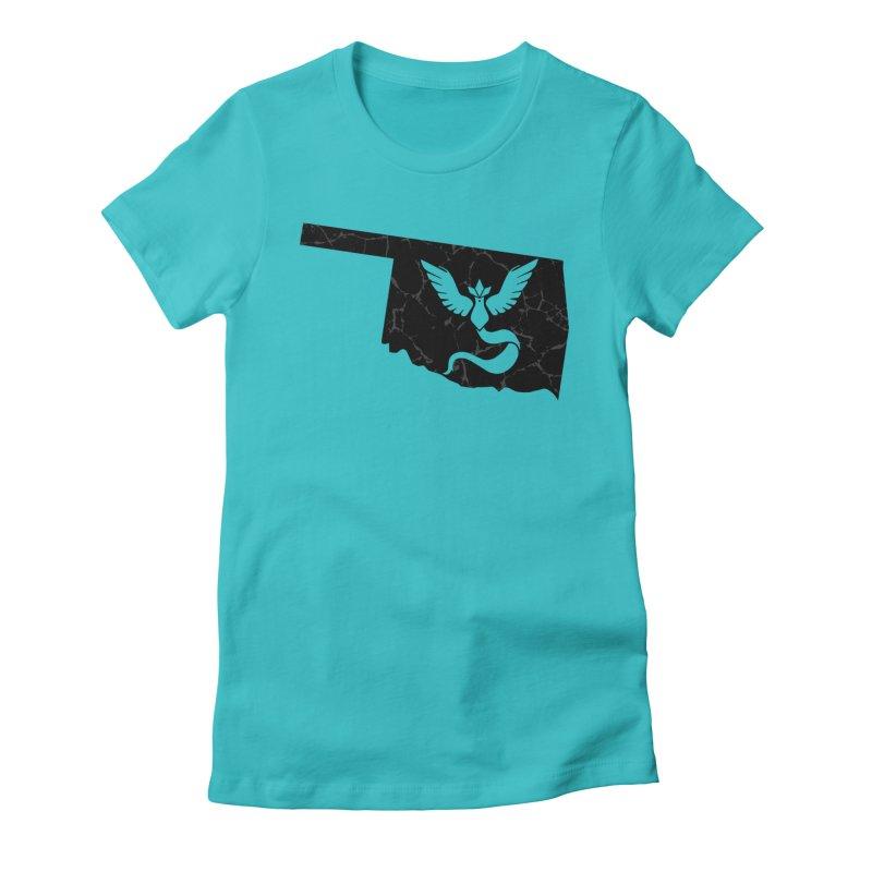 Pokemon Go Oklahoma - Team Mystic (Black) Women's Fitted T-Shirt by OKgamers's Shop