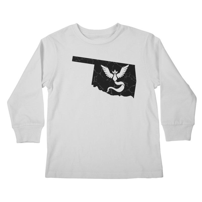 Pokemon Go Oklahoma - Team Mystic (Black) Kids Longsleeve T-Shirt by OKgamers's Shop