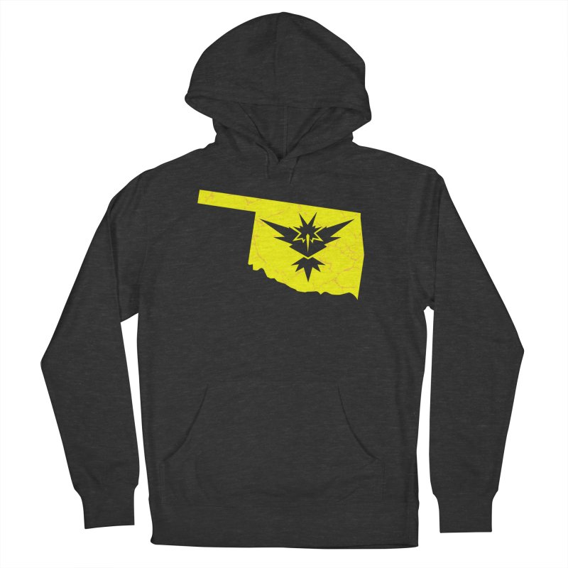 Pokemon Go Oklahoma - Team Instinct in Men's French Terry Pullover Hoody Smoke by Oklahoma Gamers' Shop