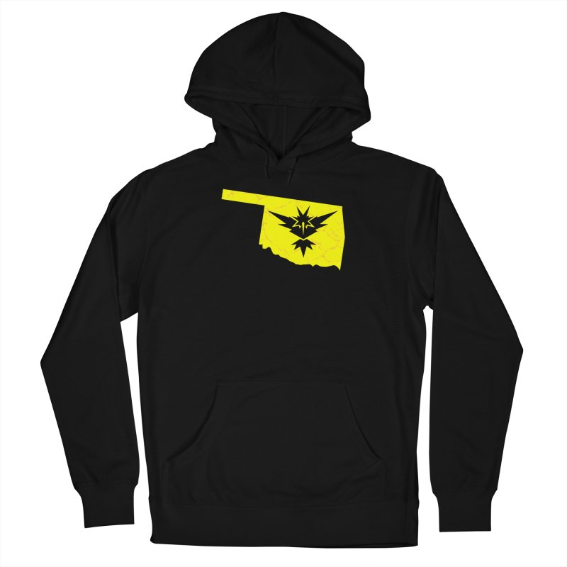 Pokemon Go Oklahoma - Team Instinct Men's French Terry Pullover Hoody by Oklahoma Gamers' Shop