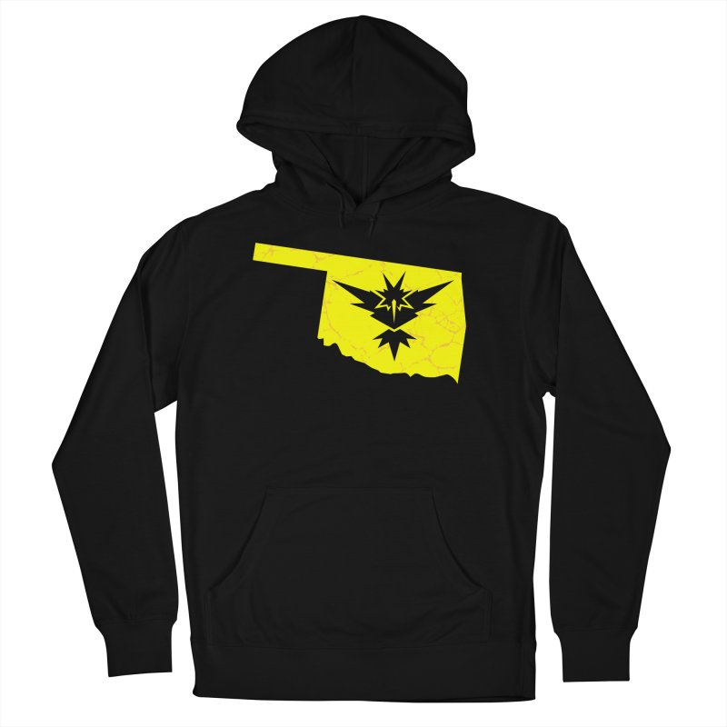 Pokemon Go Oklahoma - Team Instinct in Men's French Terry Pullover Hoody Black by OKgamers's Shop