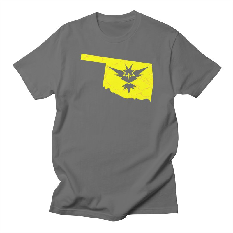 Pokemon Go Oklahoma - Team Instinct Men's Regular T-Shirt by Oklahoma Gamers' Shop