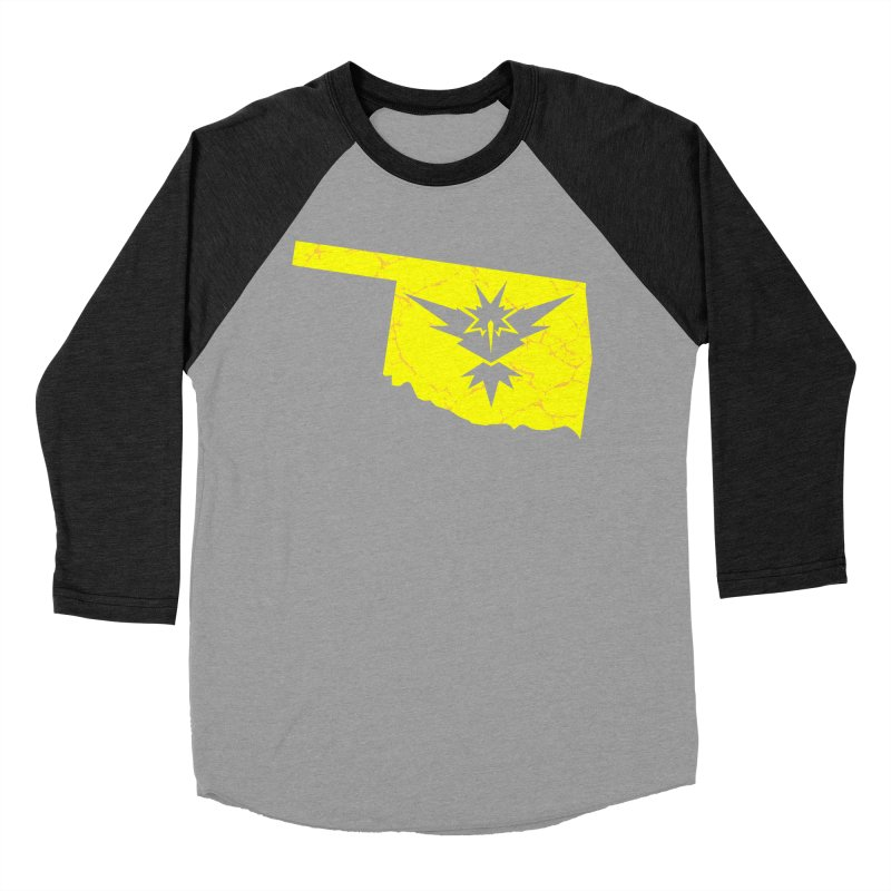 Pokemon Go Oklahoma - Team Instinct Women's Baseball Triblend Longsleeve T-Shirt by Oklahoma Gamers' Shop