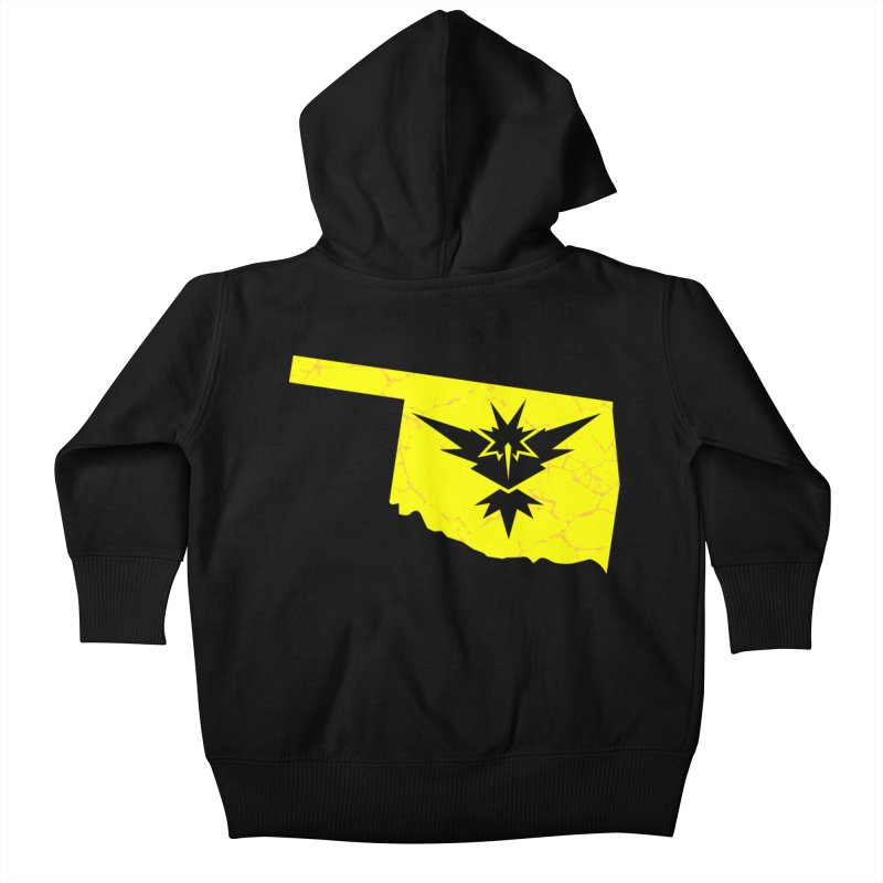 Pokemon Go Oklahoma - Team Instinct Kids Baby Zip-Up Hoody by OKgamers's Shop