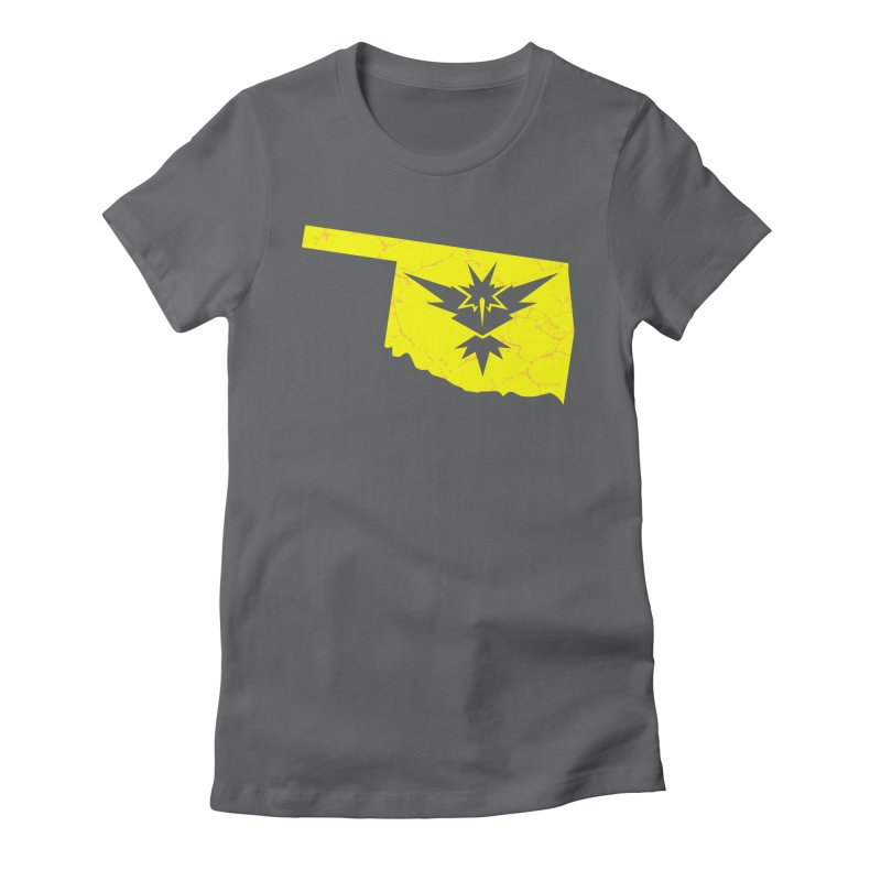 Pokemon Go Oklahoma - Team Instinct Women's Fitted T-Shirt by OKgamers's Shop