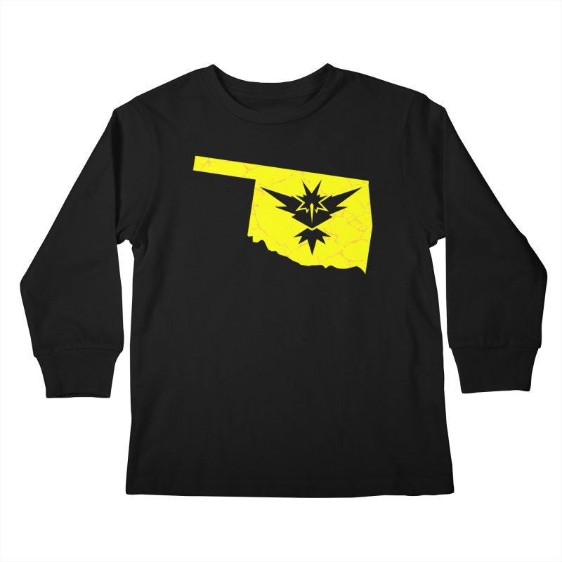 Pokemon Go Oklahoma - Team Instinct Kids Longsleeve T-Shirt by Oklahoma Gamers' Shop
