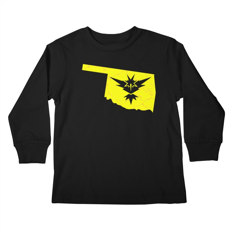 Pokemon Go Oklahoma - Team Instinct Kids Longsleeve T-Shirt by OKgamers's Shop